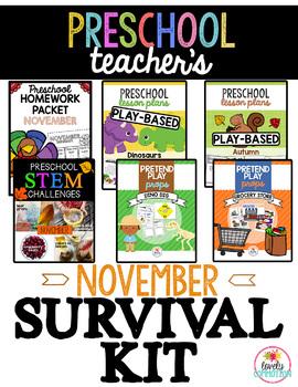 Preschool & Pre-K Teacher's November Survival Kit