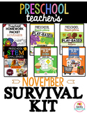 Preschool & Pre-K Teacher's November Survival Kit Bundle