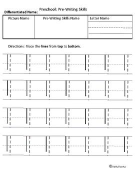 Preschool-Pre-Writing Differentiated Skills Part 2