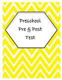 Preschool Pre and Post Test