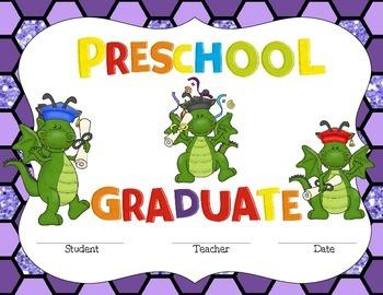 Preschool & Pre-k Graduate Certificate- Dragon Fun