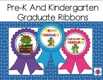 Preschool & Pre-k Graduate Ribbons- Dragon Fun