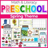 Preschool/ Pre-k Math & Literacy Centers | Spring Theme