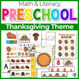 Preschool/ Pre-k Math & Literacy Centers   Thanksgiving Theme