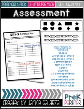 Preschool & PreK Assessment and Portfolio