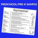 Preschool/PreK Book Based Activity Calendars