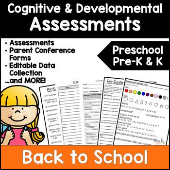 Preschool , PreK, & K Assessments; Cognitive and Developmental
