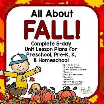 Preschool, PreK, K & Homeschool Lesson Plan Bundle: Set #2