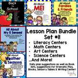 Preschool, PreK, K & Homeschool Lesson Plans Bundle: Set #1