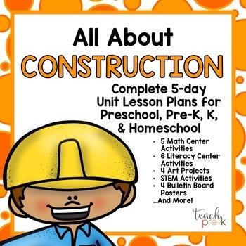Preschool, PreK, K & Homeschool Lesson Plans Bundle: Set #4