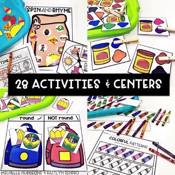 Preschool, PreK, Kindergarten Back to School August Centers and Activities