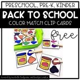 Preschool, PreK, Kindergarten Back to School Color Activit