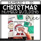 Preschool, PreK, Kindergarten Christmas Activities | Build Numbers 1 - 20
