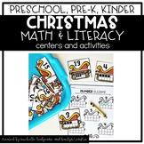 Preschool, PreK, Kindergarten Christmas December Centers a