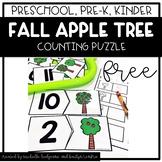 Preschool, PreK, Kindergarten Fall Autumn Apple Counting P