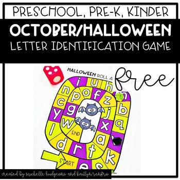 Preschool, PreK, Kindergarten Halloween October Letter Identification FREE