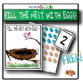FREE - Preschool, PreK, Kindergarten NEST themed FUN COUNTING MAT 1 - 20