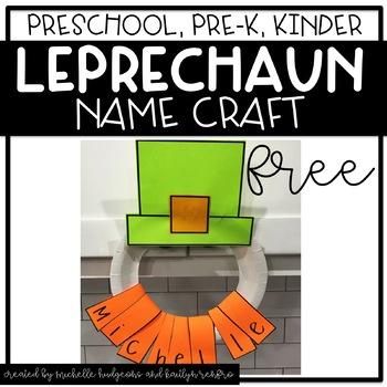 Preschool, PreK, Kindergarten St. Patrick's Day Activities   Leprechaun craft