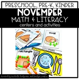 Preschool, PreK, Kindergarten Thanksgiving November Center