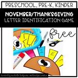 Preschool, PreK, Kindergarten Thanksgiving November Turkey Name Craft FREE