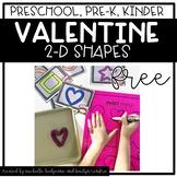 Preschool, PreK, Kindergarten Valentine's Activities | 2D Shapes