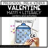 Preschool, PreK, Kindergarten Valentine's Centers and Activities