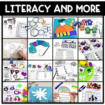 Preschool, PreK, Kindergarten Winter Centers and Activities