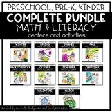 Preschool, PreK, Kindergarten Year Long Centers and Activities