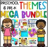 Preschool & PreK Literacy and Math Themes MEGA Bundle Pack