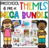 Preschool & PreK Literacy and Math Themes Growing Bundle Pack