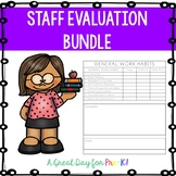 Preschool, Prek, and Kindergarten Staff Evalution Bundle