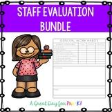 Preschool, Prek, and Kindergarten Staff Evalution Bundle
