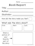 Preschool Prekinder Kinder Basic Book Report