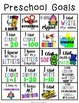Preschool/ Prekindergarten Goal Sheets