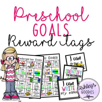 Preschool/ Prekindergarten Goal Sheets WITH matching Brag Tags!