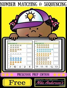 Preschool Prep | Cut & Paste Number Matching