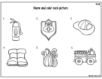 Preschool Print and Go Activities for Speech and Language: Fire Safety