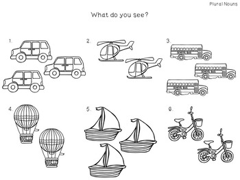 Preschool Print and Go Activities for Speech and Language: Transportation