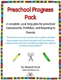 Preschool Progress Pack Bundle: A Year-Long Plan for Assessments Portfolios+