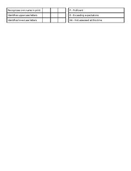 Preschool Progress Report Template - EDITABLE