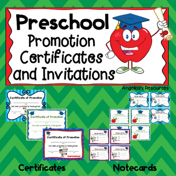 End of the Year Awards: Preschool Promotion Certificates and Invitations