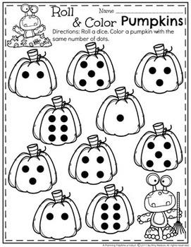 Preschool Pumpkin Activities by Planning Playtime   TpT