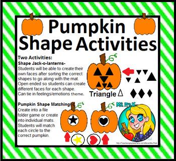 Preschool Pumpkin Shape Activities