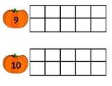 Preschool Pumpkin Ten Frames (1-10)