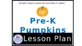 Preschool Pumpkin Themed lesson plan