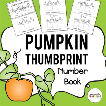 Preschool Pumpkin Thumbprint Number Book