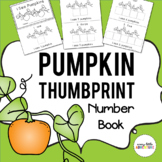Preschool Pumpkin Thumbprint Number Book