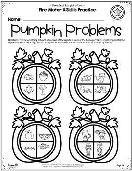 Pumpkins Preschool Unit - Lesson Plans & Printables Preschool, PreK, Homeschool