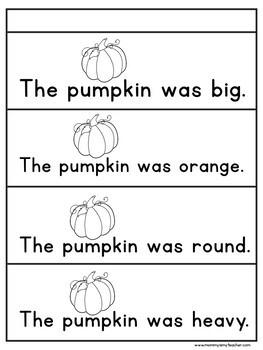 Preschool Pumpkins Theme Unit Printables