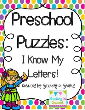 Preschool Puzzles: I Know My Letters! (Printer Friendly)